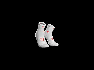 Compressport Pro Racing Socks v3.0 Run fehér bokazokni T2