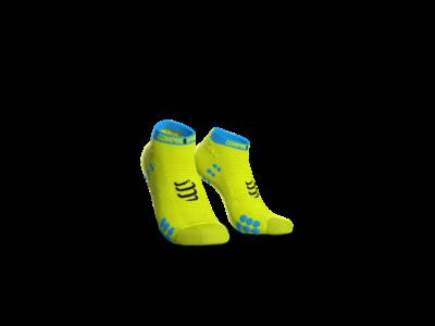 Compressport Pro Racing Socks v3.0 Run fluo sárga titokzokni T4