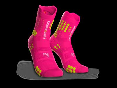 Compressport Pro Racing Socks v3.0 Trail pink terepfutó zokni T1