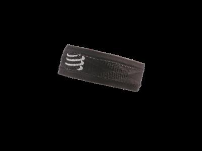 Compressport Headband Thin - keskeny fekete fejpánt
