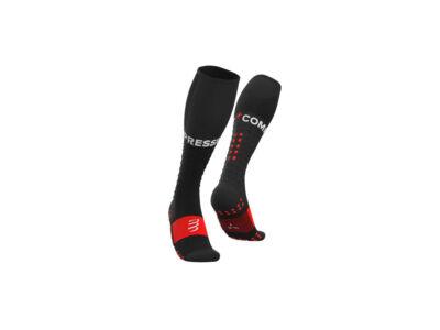 Compressport Full Socks Run Fekete kompressziós sportzokni T2