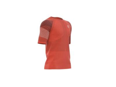 Compressport Racing SS T-Shirt férfi futópóló narancs XL