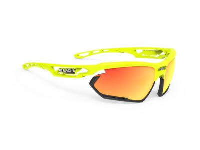 FOTONYK YELLOW FLUO-BLACK BUMPERS/MULTILASER ORANGE kerékpáros szemüveg
