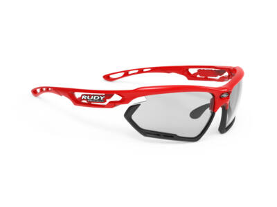 FOTONYK FIRE RED-BLACK BUMPERS/IMPACTX2 PHOTOCHROMIC BLACK kerékpáros szemüveg