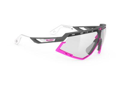 DEFENDER PYOMBO-WHITE PINK FLUO BUMPERS/IMPACTX2 PHOTOCHROMIC BLACK kerékpáros szemüveg