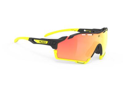 CUTLINE BLACK-BLACK YELLOW BUMPERS/MULTILASER ORANGE kerékpáros szemüveg
