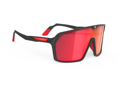 SPINSHIELD BLACK/MULTILASER RED kerékpáros szemüveg