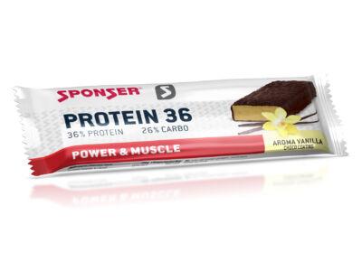 Sponser Protein 36 fehérjeszelet 50g, vanília