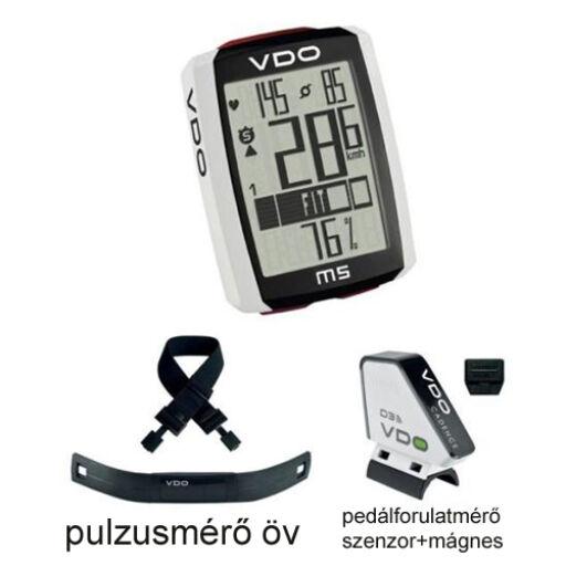 Computer VDO M5 WL szett pedálfordulat és pulzus jeladóval