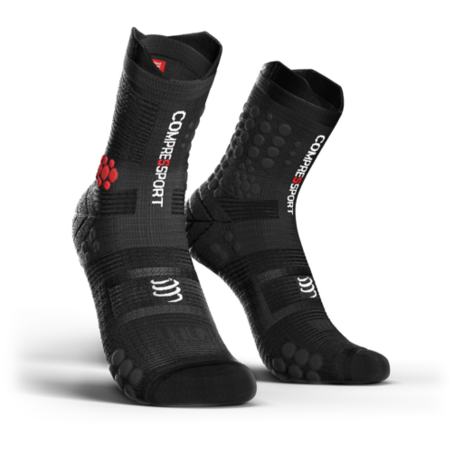 Compressport Pro Racing Socks v3.0 Trail fekete terepfutó zokni T2
