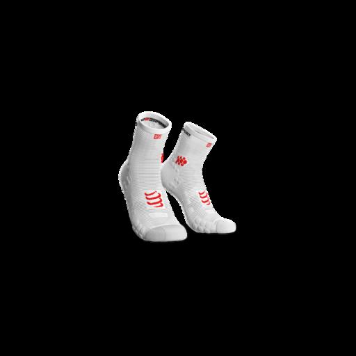 Compressport Pro Racing Socks v3.0 Run fehér bokazokni T4