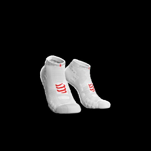 Compressport Pro Racing Socks v3.0 Run fehér titokzokni T1