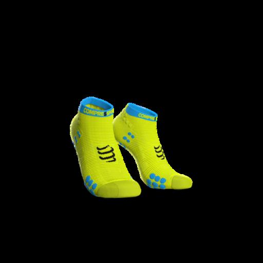 Compressport Pro Racing Socks v3.0 Run fluo sárga titokzokni T2