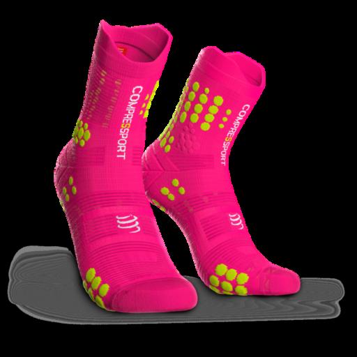 Compressport Pro Racing Socks v3.0 Trail pink terepfutó zokni T2