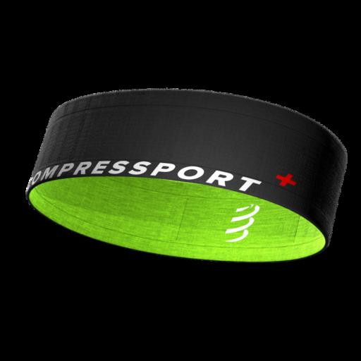 Compressport Free Belt fekete-zöld sportöv, futóöv XS/S
