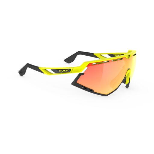DEFENDER YELLOW FLUO-BLACK BUMPERS/MULTILASER ORANGE kerékpáros szemüveg