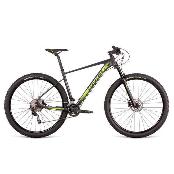 "Dema ENERGY 9 dark grey-neon yellow 17"" MTB kerékpár"