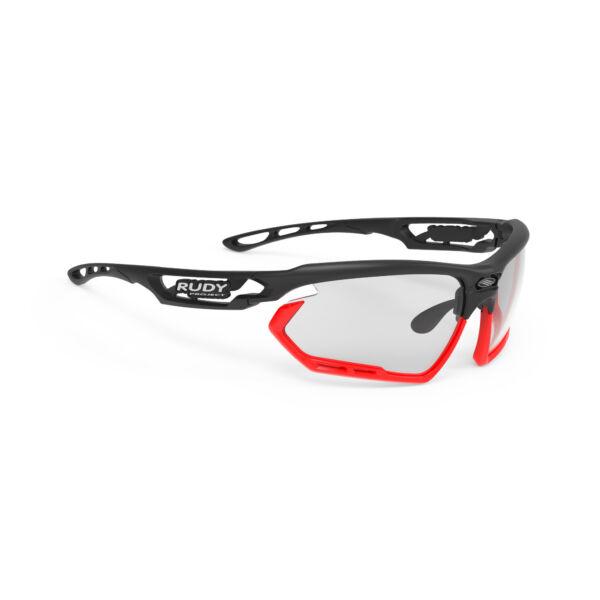 FOTONYK BLACK-RED FLUO BUMPERS/IMPACTX2 PHOTOCHROMIC BLACK kerékpáros szemüveg