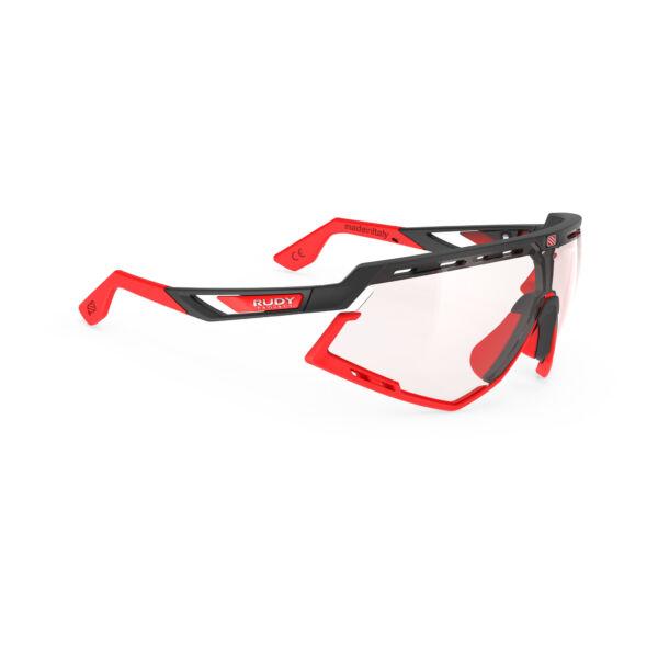 DEFENDER BLACK-RED BUMPERS/IMPACTX2 PHOTOCHROMIC RED kerékpáros szemüveg