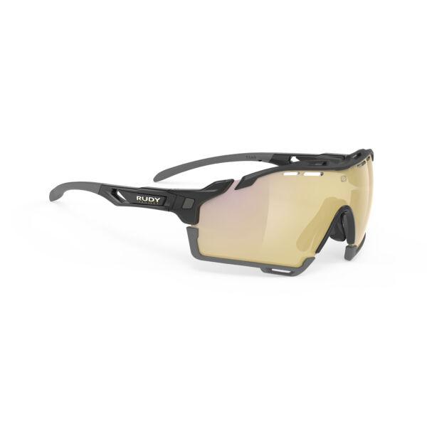 CUTLINE BLACK-BLACK GREY BUMPERS/MULTILASER GOLD kerékpáros szemüveg