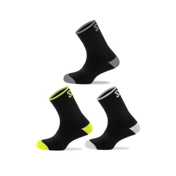 Spiuk kerékpáros zokni ANATOMIC 3db egy csomagban, több színben